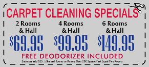 SteamMaster Carpet Specials
